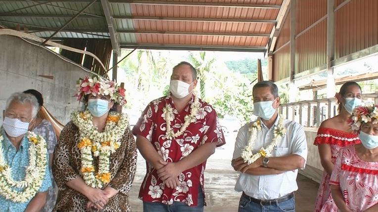 Le gouvernement en représentation à Raiatea