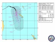 Cyclone Sandra: Alerte rouge sur le Nord de la Calédonie (12/09 à 5h00)