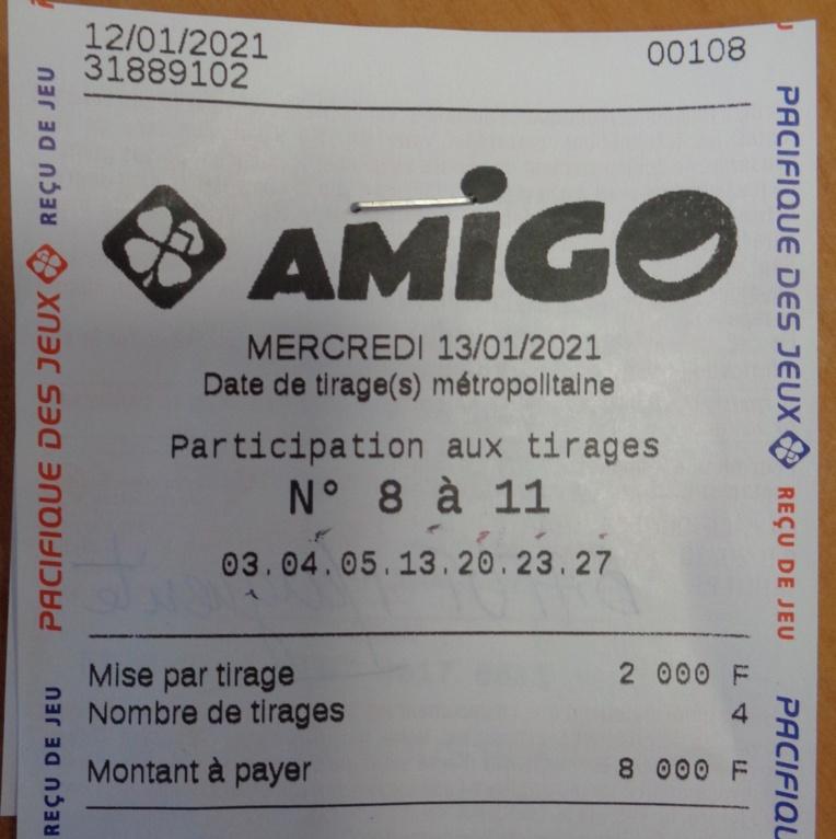 25 millions de Fcfp pour une jeune retraitée au jeu Amigo
