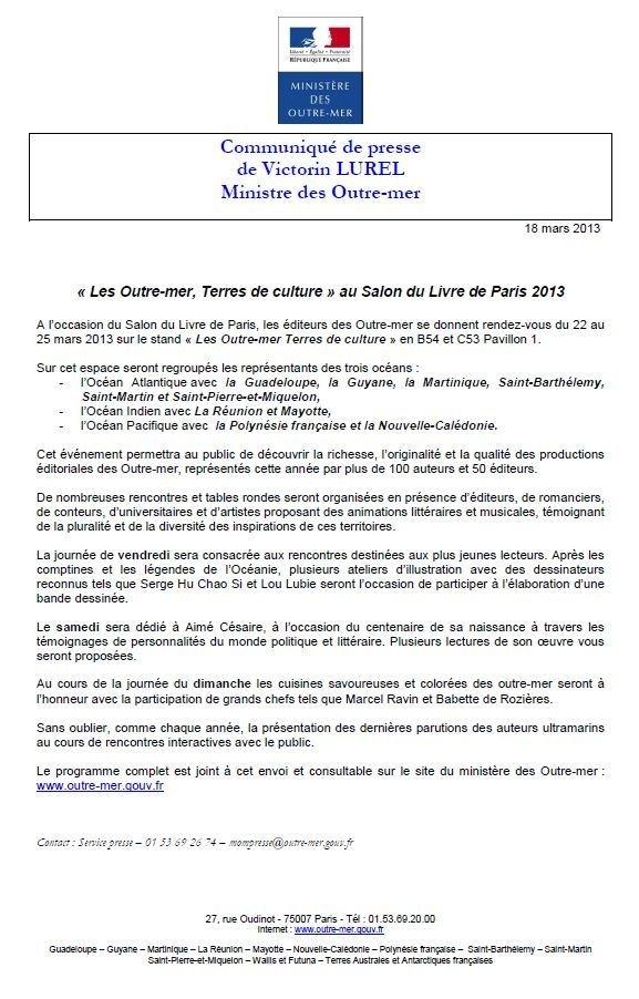 Salon du livre de Paris 2013: La délégation Océanienne