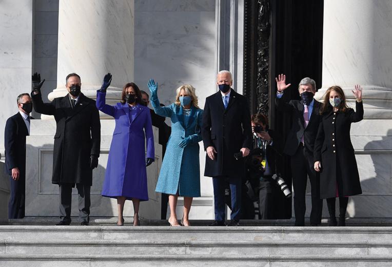 Joe Biden et Kamala Harris arrivent au Capitole pour prêter serment