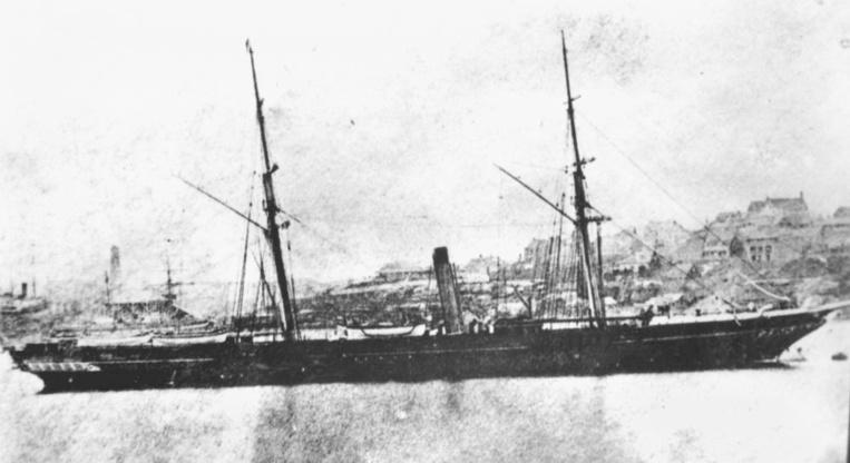 """Le Ruahine fut l'un des quatre navires de la compagnie """"Panama, New Zealand & Australia Royal Mail Co."""""""