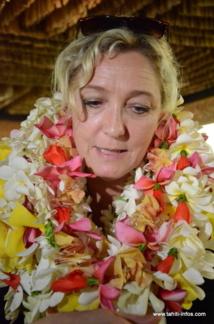 Marine Le Pen en visite pour deux jours à Tahiti