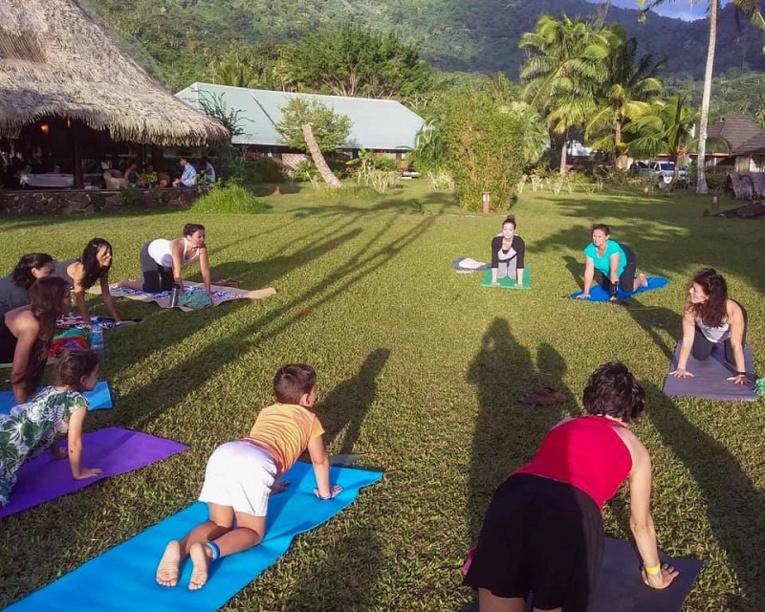 Moorea à l'heure du yoga et de la méthode Pilates