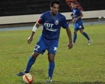 Nicolas Vallar en action lors de la Tahiti's national league ( photo OFC)