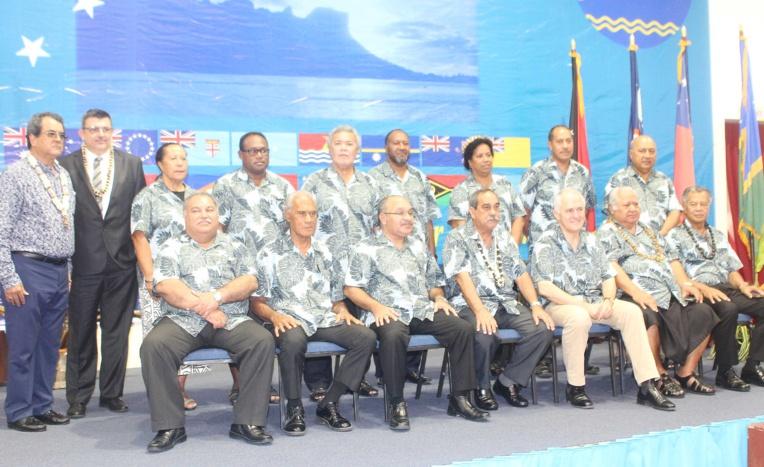 Le Forum des îles du Pacifique en 2016, lors de l'admission de l'adhésion de la Polynésie française.