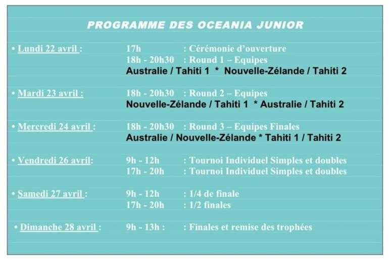 Tahiti Tournoi International Badminton et Oceania 2013