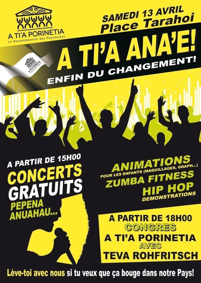 A Tia Porineta: Programme du Congrès du 13 avril