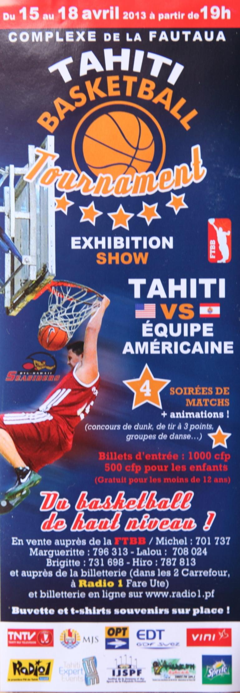 Basket Ball : Tahiti affrontera une Equipe américaine à Fautaua