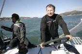 Alain Thébault et son Hydroptère se lancent à l'assaut du Pacifique