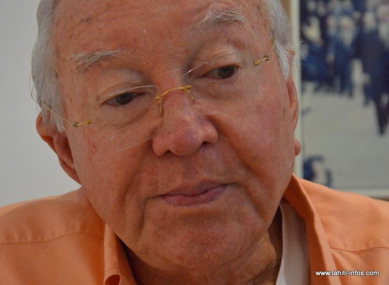 """Territoriales : """"pas question d'alliance au second tour"""", affirme Gaston Flosse"""