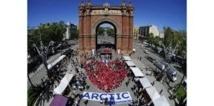 """Un """"coeur"""" de Greenpeace pour créer un sanctuaire dans l'Arctique"""