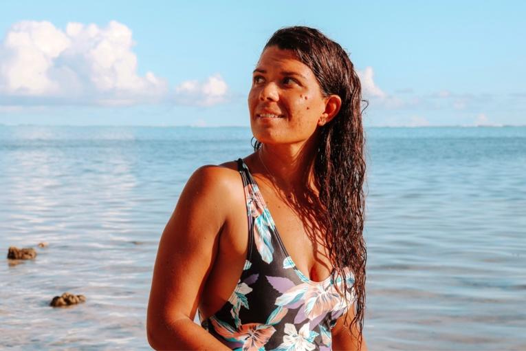 Marjorie Rinati annule son tour de Moorea à la nage en raison du mauvais temps