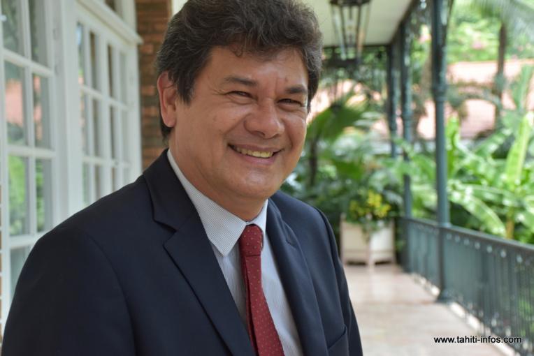 Yvonnick Raffin, le ministre en charge de l'Economie et des Finances du gouvernement Fritch.