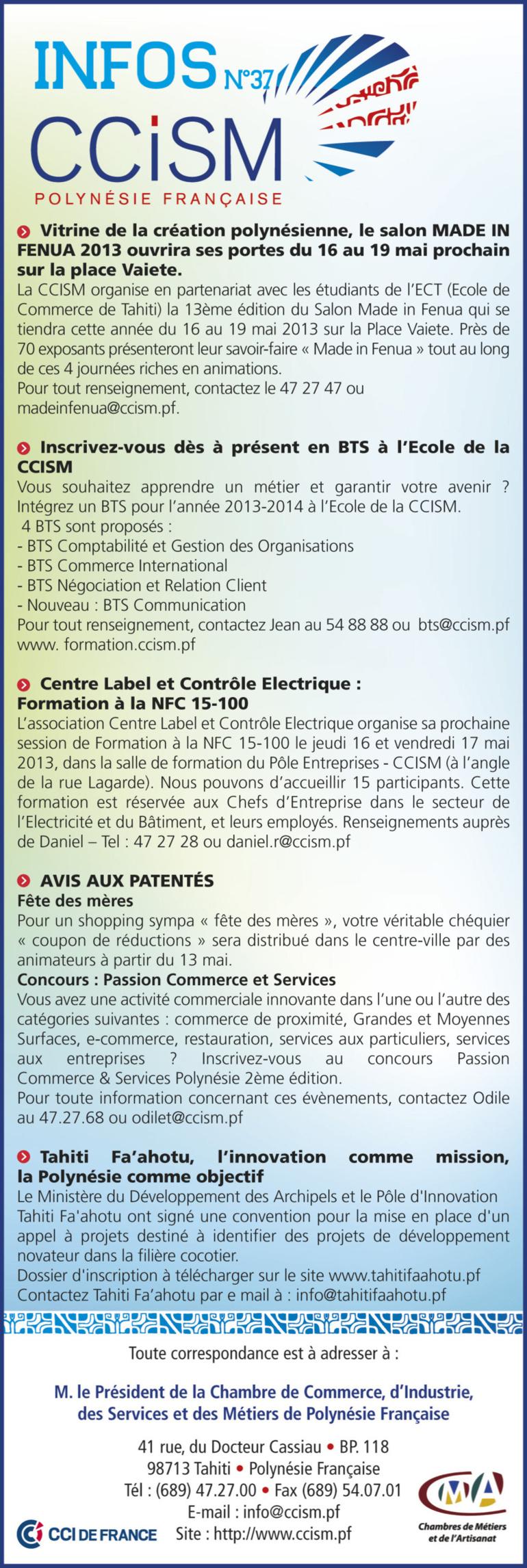 Infos CCISM N°37