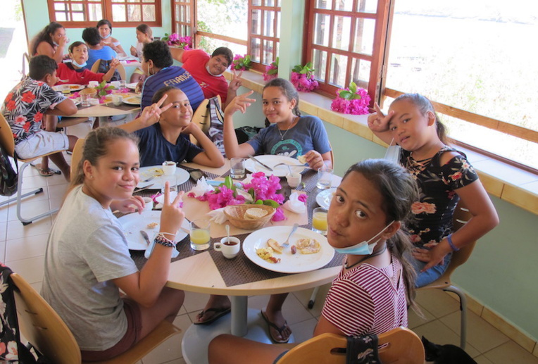 English breakfast in Nuku Hiva