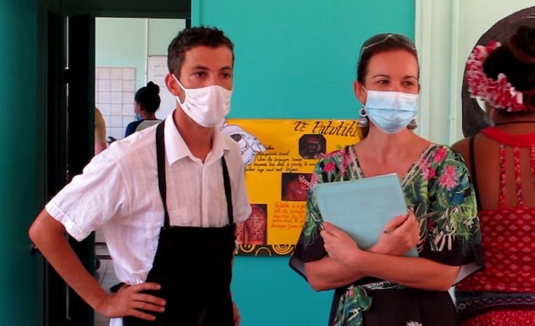 Grégory Bru et Ophélie Pelegrin, les deux enseignants à l'origine de l'initiative.