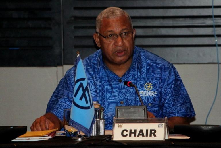 Franck Bainimarama préside désormais le groupe G77