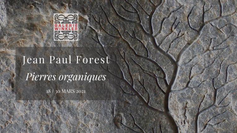 """""""Pierres organiques"""", une exposition de Jean-Paul Forest"""