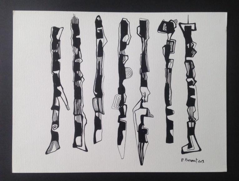Abstraction avec Patricia Bonnet.
