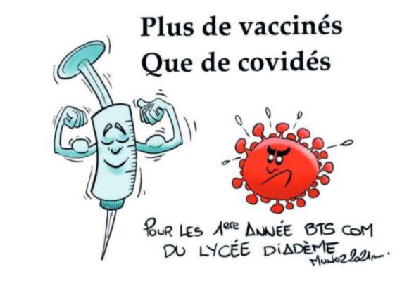 """""""Les vaccinés plus fort"""" par MUNOZ"""