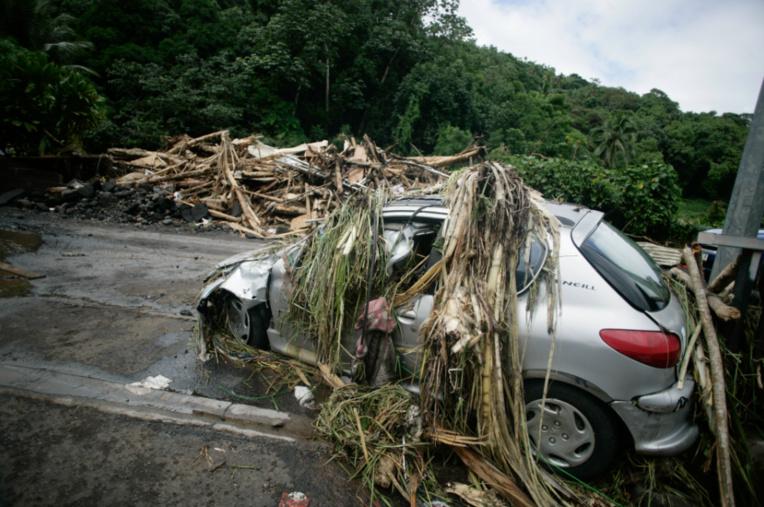 Les dégâts des inondations de 2017. Crédit : G.B.