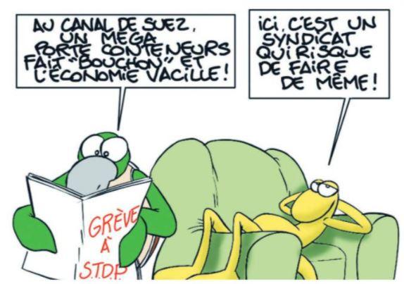 """""""Grèves et Bouchons"""" par MUNOZ"""