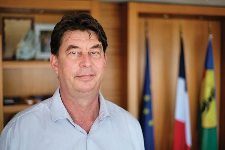 Thierry Santa (Avenir en confiance), président sortant qui expédie les affaires courantes. THEO ROUBY / AFP - photo d'archives