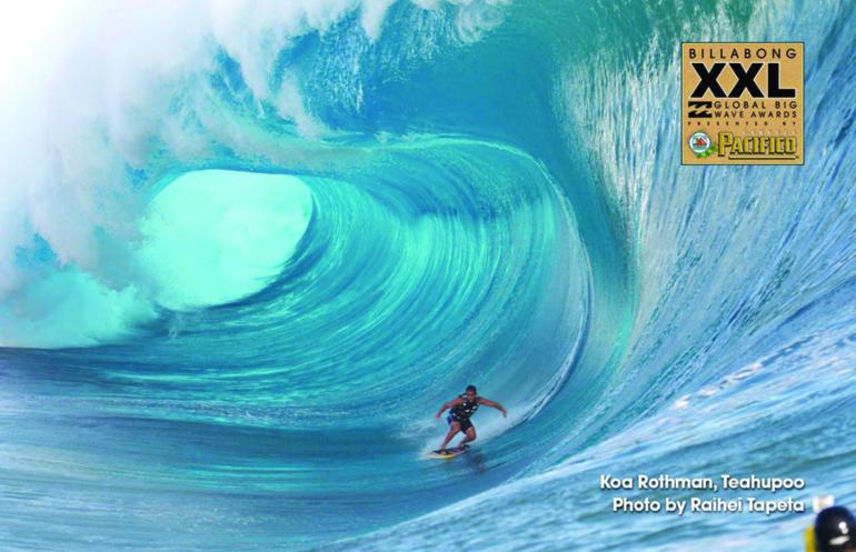 Surf tow-in : Une photo de Raihei Tapeta sélectionnée pour le concours Billabong XXL !