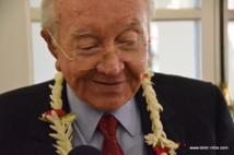 Le Président Gaston Flosse, mercredi 22 mai à Papeete.
