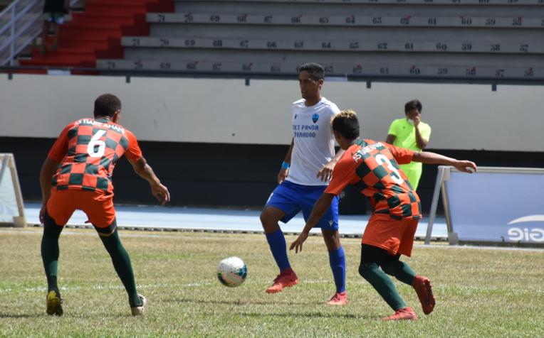 Yohann Tihoni, capitaine de l'AS Pueu, a inscrit un quintuplé, samedi, lors de ce premier tour de Coupe de Polynésie.
