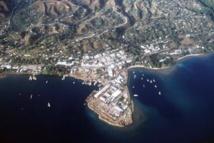 Vue aérienne de Honiara, capitale des îles Salomon
