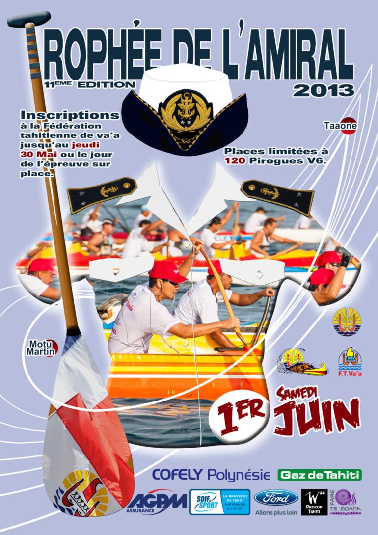 Course de Va'a – « Trophée de l'amiral 2013»