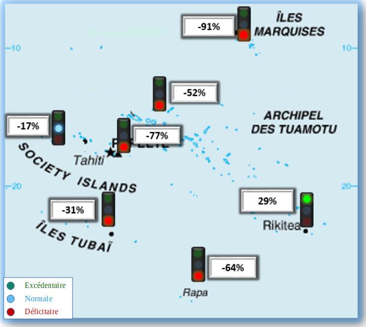 La Polynésie, et surtout les Marquises, très au sec