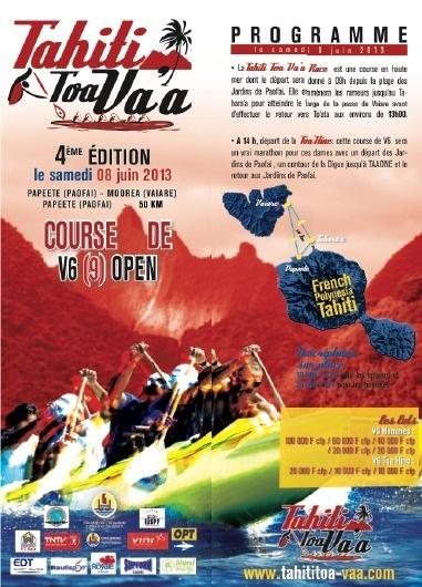 Tahiti Toa Va'a, 4ème édition samedi 8 juin
