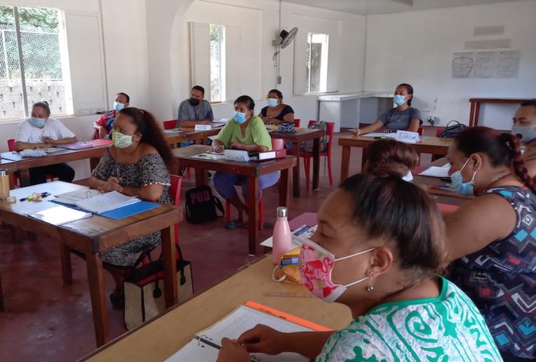 Des demandeurs d'emploi sur la voie de la réinsertion à Bora Bora