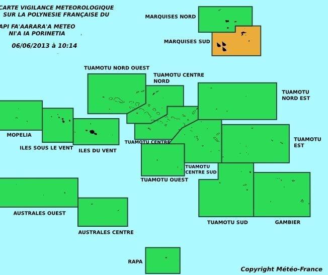 Fortes intempéries sur l'île de Hiva-Oa (Archipel des Marquises)