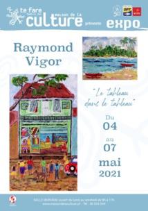 "Raymond Vigor peint ""le tableau dans le tableau"""