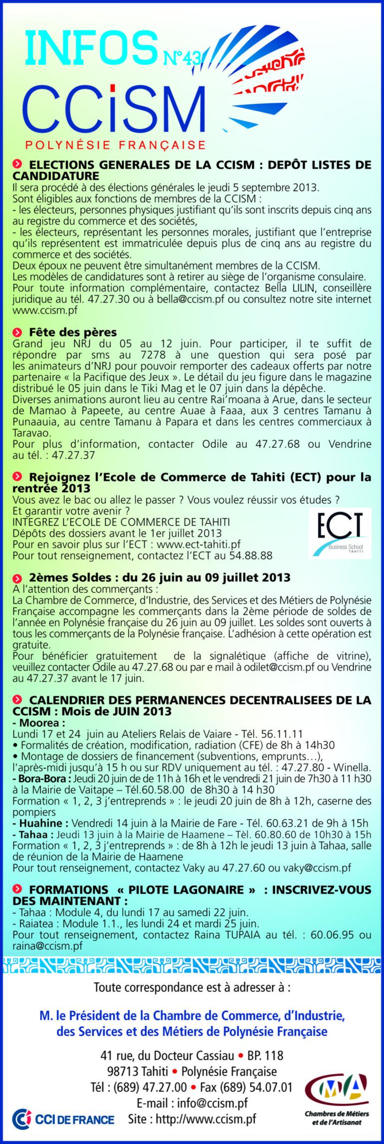 Infos CCISM N°43