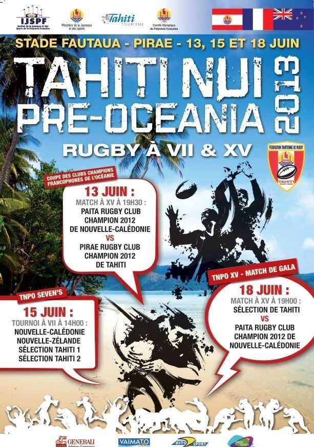 Rugby Pré Océania: Pirae bat le Paita de Nouvelle Calédonie 14 à 12