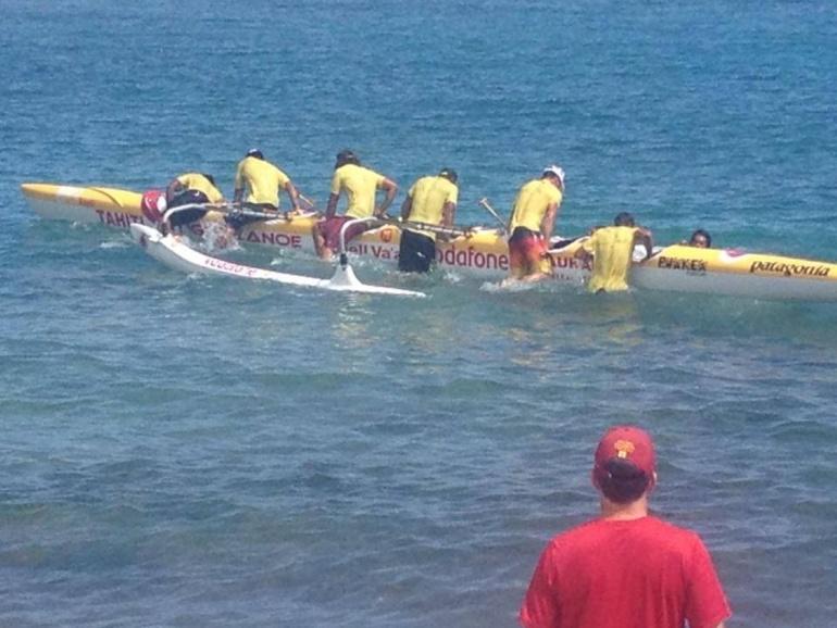 Changement d'équipe à Uluweuweu bay