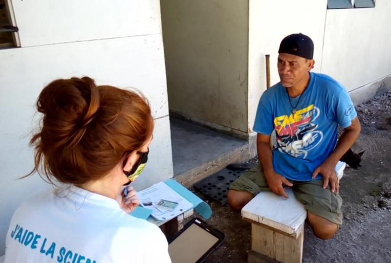 Tehio, habitant de Hoa participant au projet de santé Mataea.