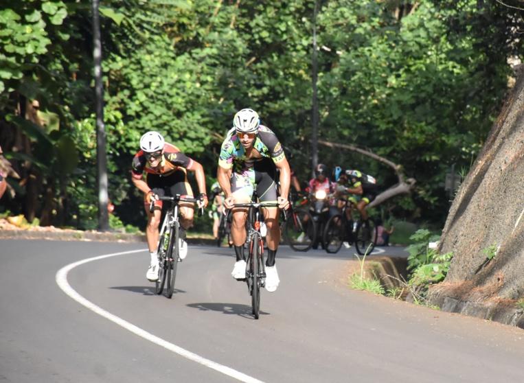 Heiarii Manutahi a été le plus fort dans la montée finale de Vaitevere où l'arrivée était jugée dimanche.