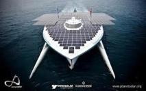 Le catamaran solaire PlanetSolar en mission pour étudier le Gulf Stream