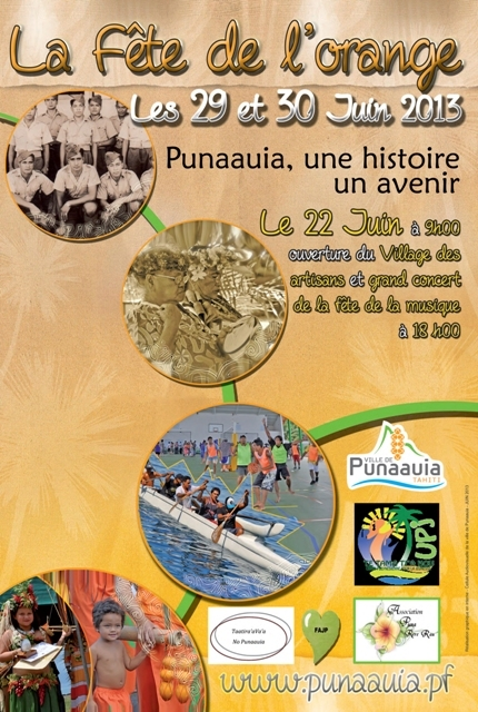 Cette année, la ville de Punaauia organise les festivités de l'orange où tous les polynésiens seront invités et les bienvenus.