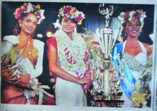Thérèse Heikapua Moke, miss Tahiti 1993