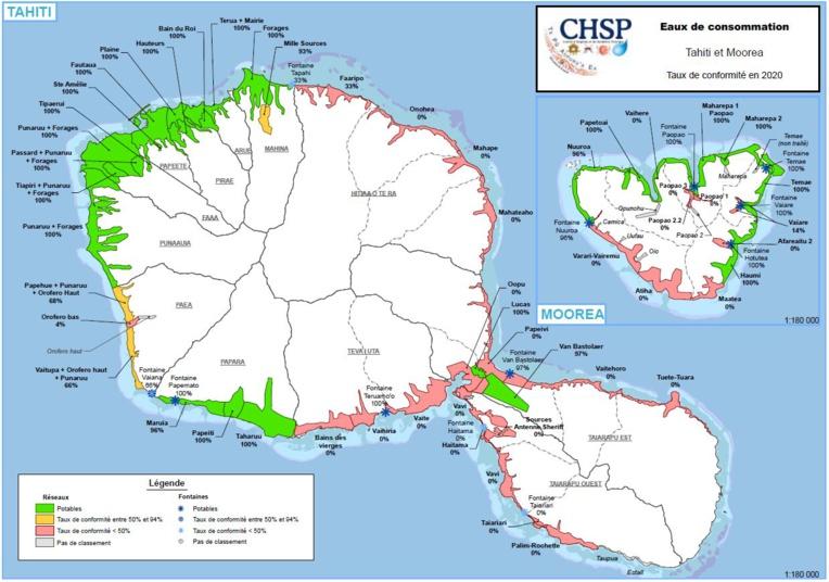 L'eau reste potable dans le grand Papeete