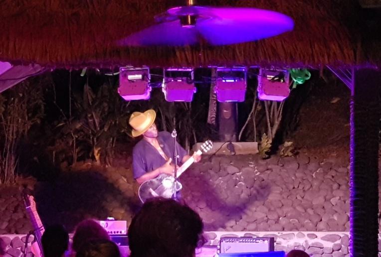 Keziah Jones en concert éclair à Bora Bora