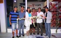 """Beach Soccer : Inauguration d'une boutique de produits """"coupe du monde"""" en présence de stars"""