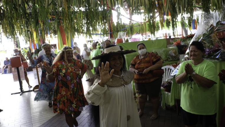Les māmā ont défilé dans les allées du marché vendredi matin.